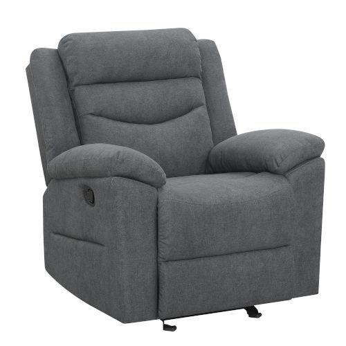Chenango Dark Gray Upholstery Glider Recliner Chair