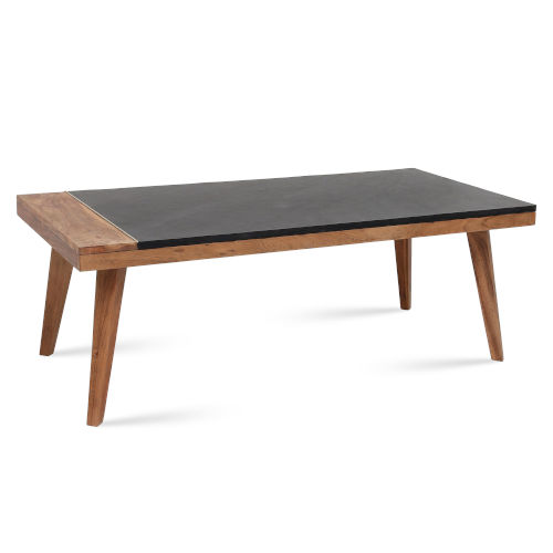 Caspian Black and Natural Cocktail Table