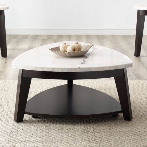 Francis White And Ebony 34-Inch Cocktail Table