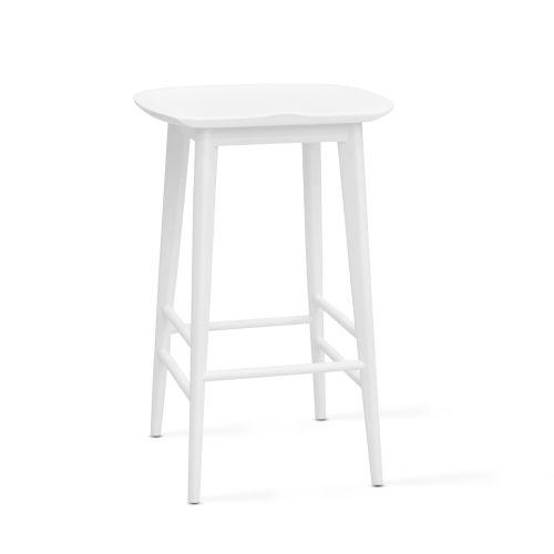 Hilton White 24-Inch Counter Stool