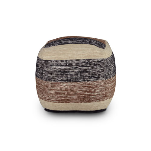 Jamal Multicolor Square Handwoven Pouf