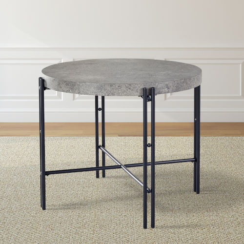 Morgan Gray and Black Round Counter Table