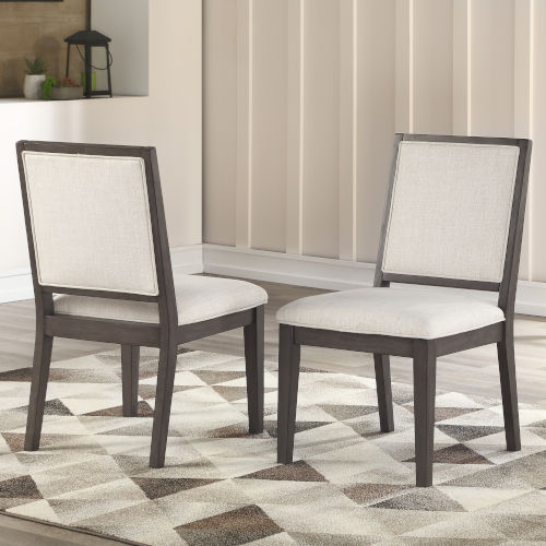 Mila Washed Gray 25-Inch Side Chair, Set of 2