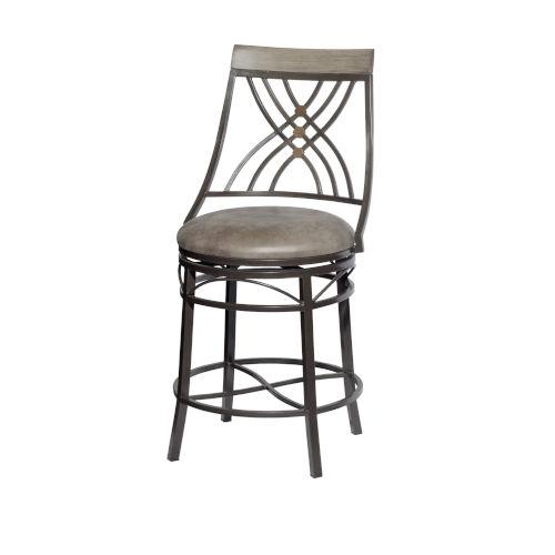 Melva Gray 21-Inch Counter Chair