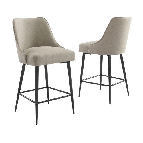 Olson Khaki 21-Inch Counter Chair, Set of 2