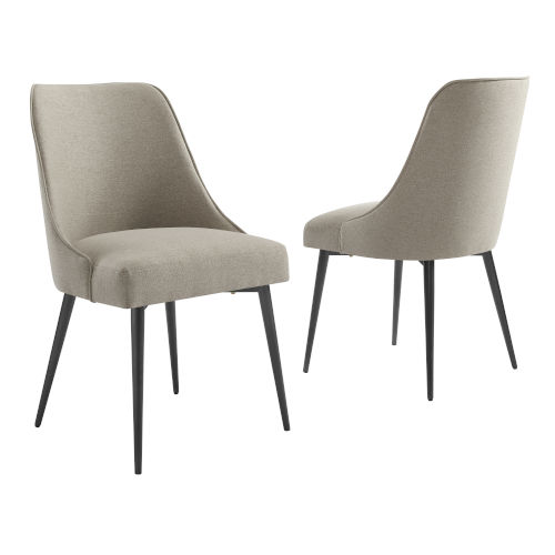 Olson Khaki 22-Inch Side Chair, Set of 2