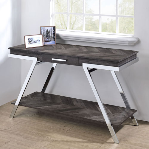 Roma Dark Grey and Chrome Sofa Table