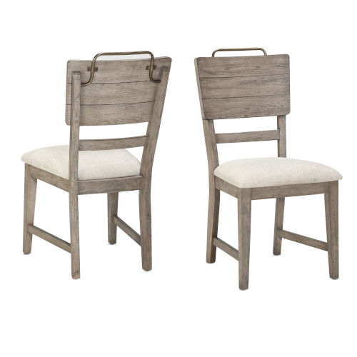 Ryan Hand-burnished smoky oak Side Chair, Set of Two