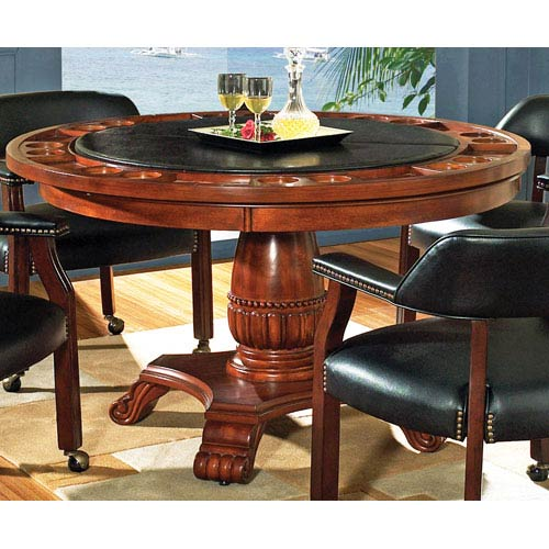Tournament Black 50 Inch Round Game Table