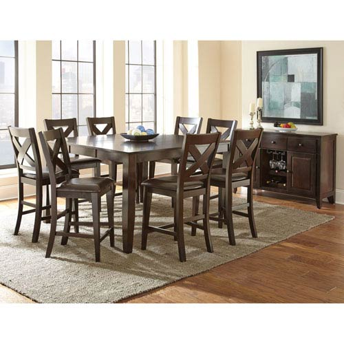 Crosspointe Counter Table w/18-Inch Leaf