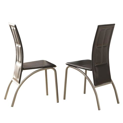 Modern Black Leather Dining Chairs