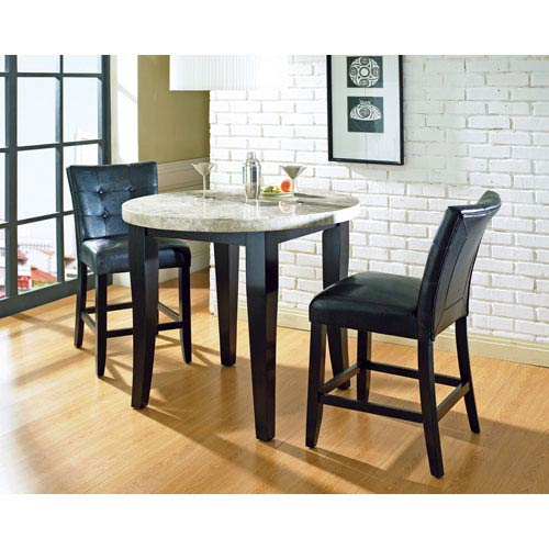 Steve Silver Company Cayman 48-Inch Round Tempered Glass Top