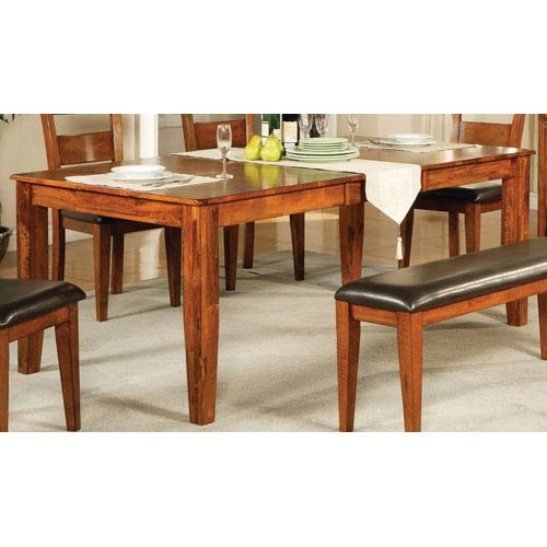 Steve Silver Company Mango Light Oak Table W 18 Inch Erfly Leaf