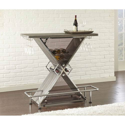 Steve Silver Company Joanna Bar Table Grey