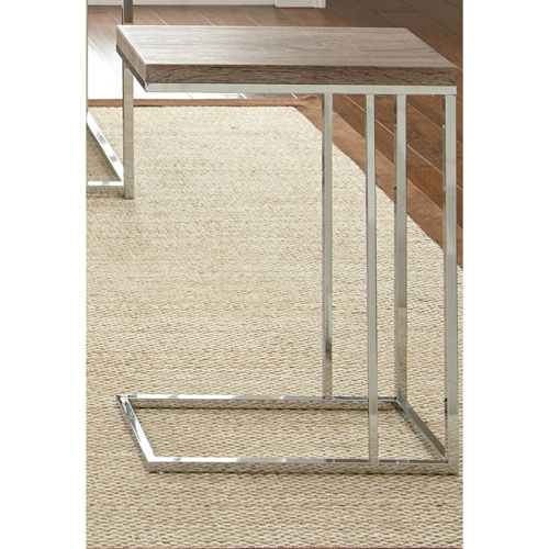 Steve Silver Company Lucia Chairside End Table, Brown