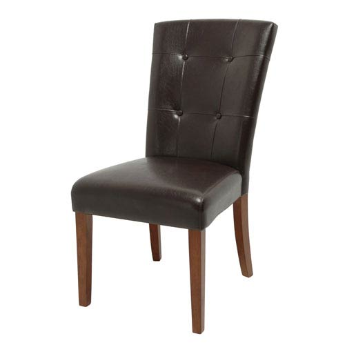 Montibello Dark Brown Arched Top Parsons Chair