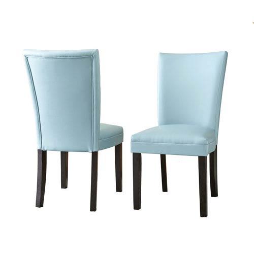 Matinee Bonded Leather Chairs Aqua
