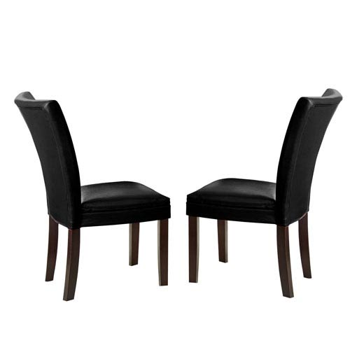 Matinee Bonded Leather Chairs Black