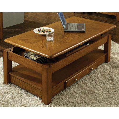 Steve Silver Company Nelson Oak Lift Top Cocktail Table