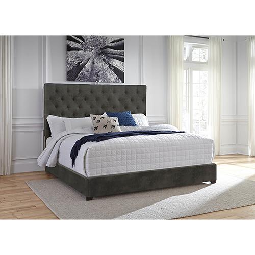 Sophia Upholstered Gray Queen Bed