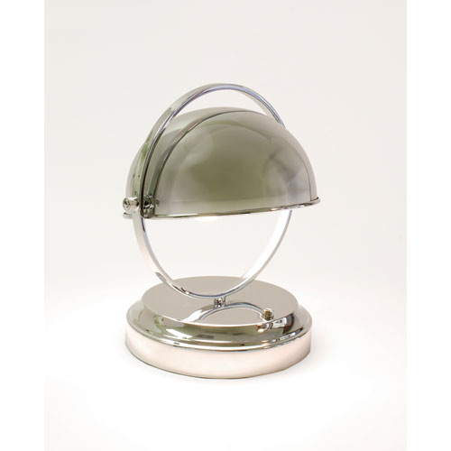 Modern Lantern Abbey Polished Nickel Rechargeable LED Table Lamp