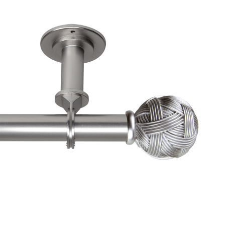 Twine Satin Nickel 28-48 Inches Ceiling Curtain Rod