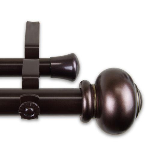 Rotunda Bronze 48-84 Inches Double Curtain Rod