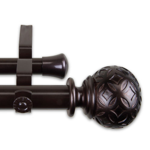 Odelia Bronze 160-240 Inches Double Curtain Rod