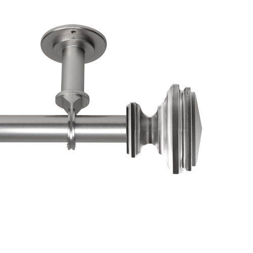Bedpost Satin Nickel 48-84 Inches Ceiling Curtain Rod