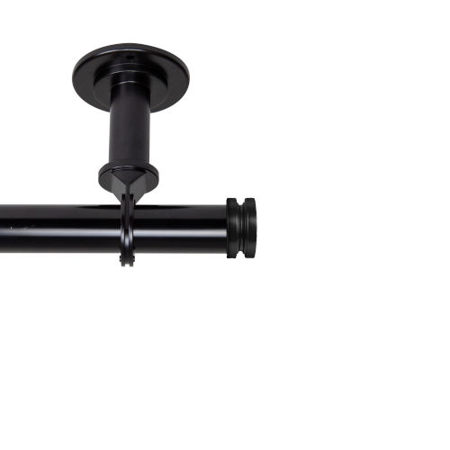 Bun Black 160-240 Inches Ceiling Curtain Rod