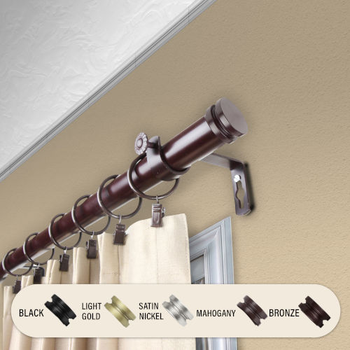 Bun Mahogany 66-120 Inches Curtain Rod