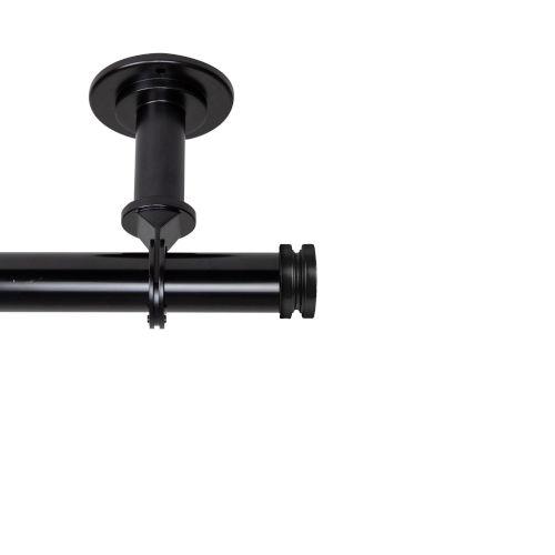 Bun Black 120-170 Inches Ceiling Curtain Rod