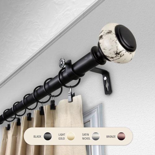 Kelly Black 66-120 Inch Curtain Rod