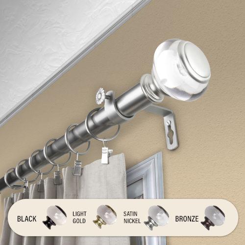 Ironwood Satin Nickel 48-84 Inch Curtain Rod