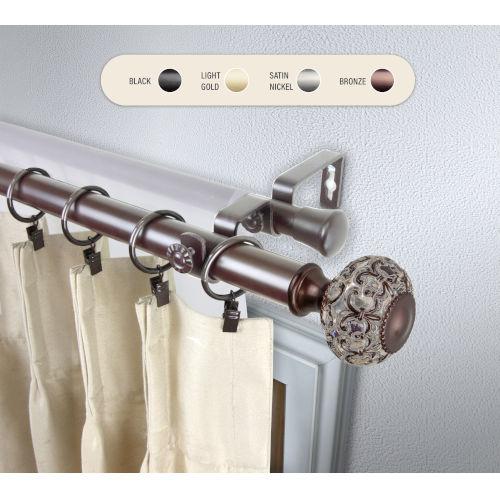 Elsie Bronze 120-170 Inch Double Curtain Rod