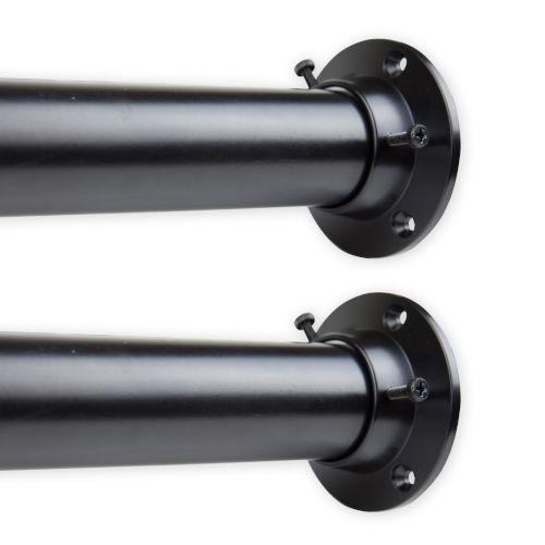 Black 28-48 Inches Room Divider Rod and Socket Set