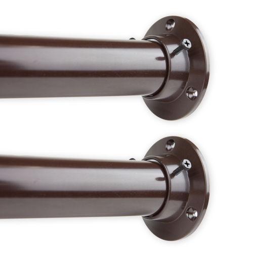 Cocoa 84-Inch Adjustable Closet Rod and Socket Set