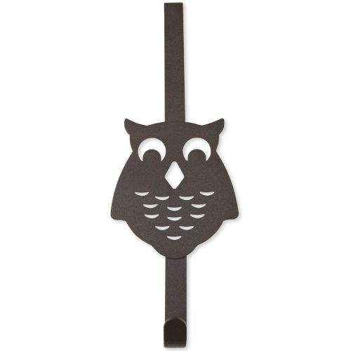 Bronze Four-Inch Over the Door Owl Organizer Single Hook