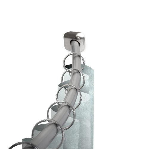 Satin Nickel 41-Inch Shower Curtain Rod