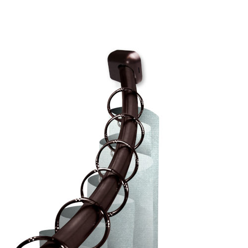 Bronze 41-Inch Shower Curtain Rod