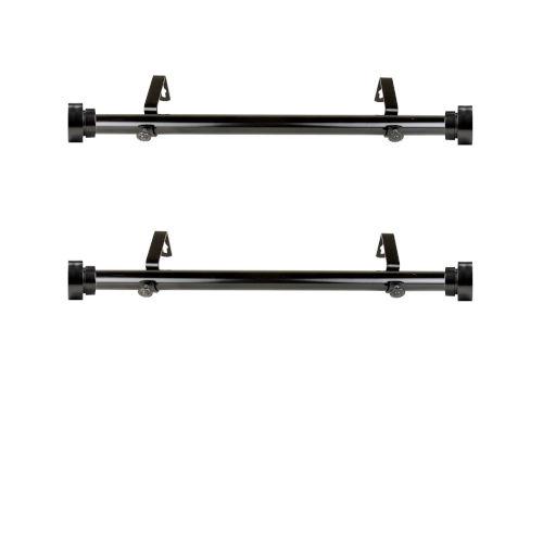 Black Side Curtain Rod, Set of 2