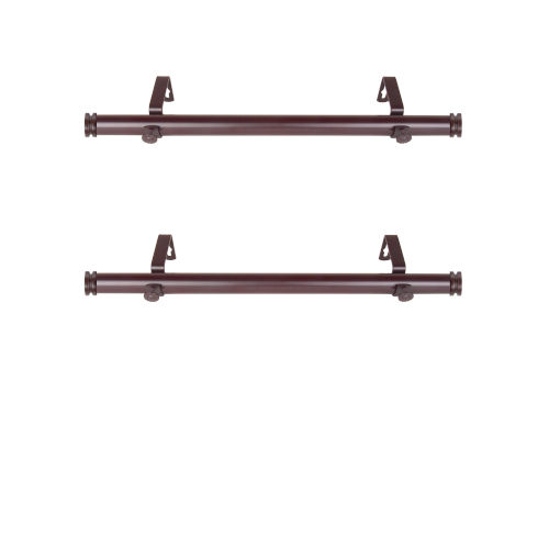 Bun Mahogany 20-Inch Side Curtain Rod, Set of 2
