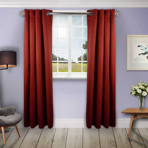 Red 96 W x 96 H In. Blackout Curtain