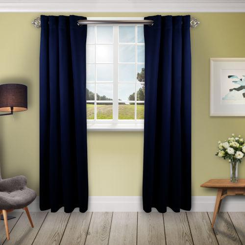 Dark Blue 180 W x 108 H In. Blackout Curtain