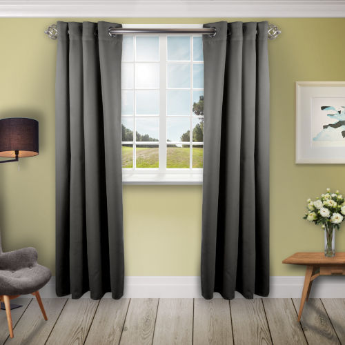 Light Grey 180 W x 108 H In. Blackout Curtain