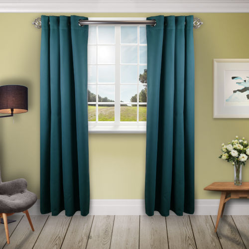 Turquoise 150 W x 96 H In. Blackout Curtain