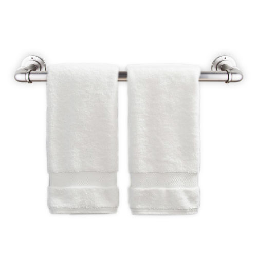 Satin Nickel 18 Inches Pipe Design Towel Rack