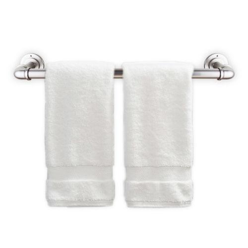 Satin Nickel 30 Inches Pipe Design Towel Rack