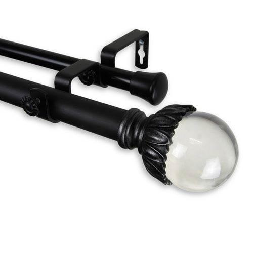 Pixie Black 160-240 Inch Double Curtain Rod