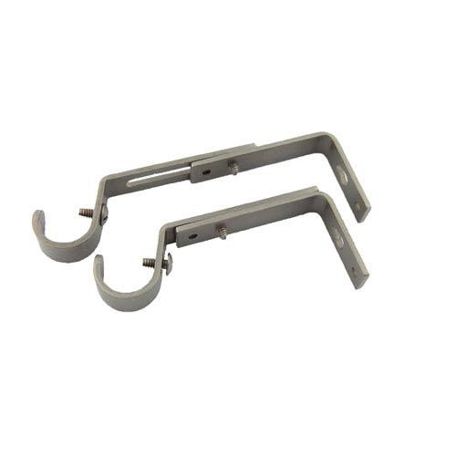 Rod Desyne Satin Nickel 3/4 Inch Rod Adjustable Brackets, Set of 2